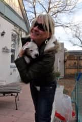 Sharlene with Bella, another foster puppy