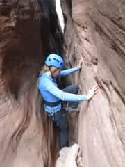 Caitlin canyoneering