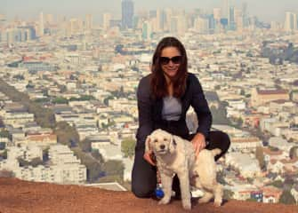 Having a wonderful time on an urban hike with Emmett in San Francisco.