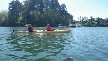 Lyle and Sue kayaking in the Gorge, Victoria.B.C.