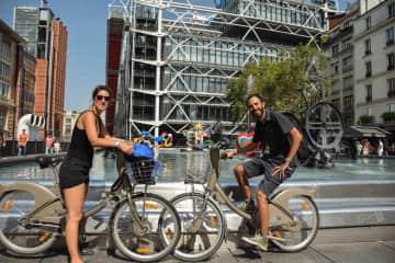 Visiting Paris by bike!
