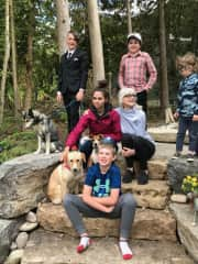 My grandkids Maddie and her two dogs Ruckus and Harper,Finn and his dog Okie,Carter,Rowan,Callen they have a cat Ryker and hope to get a Golden Retriever for Christmas