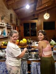 cooking one night in Sao Bento do Sapucaí - Brazil.