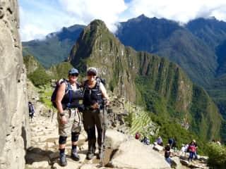 Johnna and Chris hiking the Inca Trail, Peru