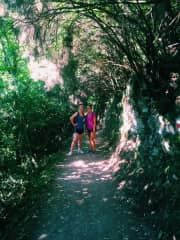 One of my favorite hobbies is hiking. This is a picture of my cousin and I hiking in Cinque Terre, Italy.