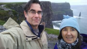 Chrys and Bill visiting Ireland