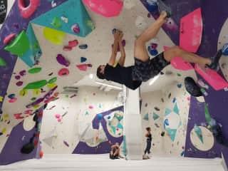 Julio climbing