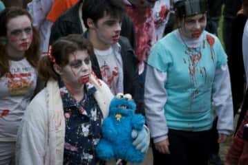 Toronto zombie Walk (that's my son Chance behind me).