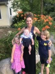 Taking care of three of my four grandchildren.