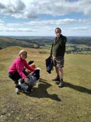 Lucy, Neil and dogs on Sale Fell
