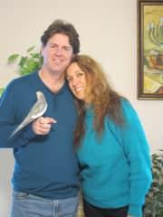 Jeff and Mary O with Kiki the bird