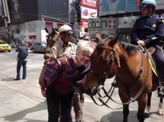 Me and a New York City equine employee