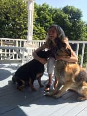 Bear and Sally, Cohasset,Ma, US, July 2016