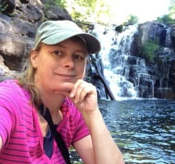 Simone enjoying a hike in Washington state