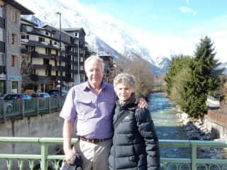 Paul and Glenda holidaying in Italian Alps