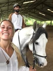 I taught my boyfriend horse riding!