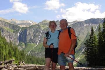 Rich and Kathy in Glacier Nat'l Park