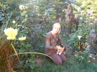 Me and Kaiya in my back yard