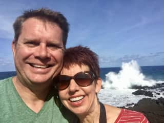Tony and Sharon at La Isla Negra, Chile
