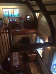 Cosy mezzanine library