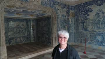 Pam enjoying a visit to Sintra in Portugal