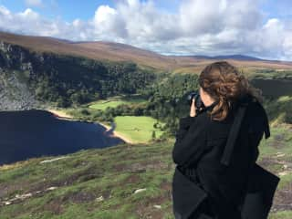 The photographer in action in the mountains of Ireland