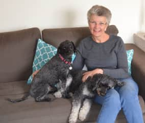 Leonie with Jake and Lucy, Canberra, ACT