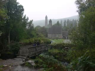 Glendalough, Ireland - misty and mystical.