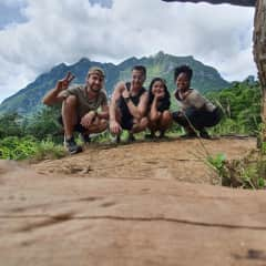 Hiking with friends in Chang Doa