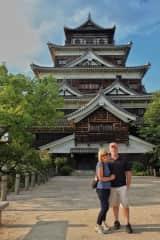 Karen and Mike in Hiroshima, Japan.