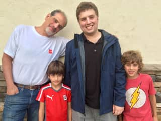 All my boys! Peter, and our sons Matt, Rafa and Alex