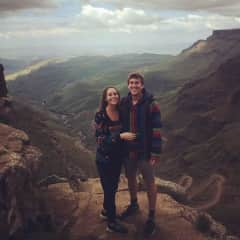 Tom and Evelyn in Sani Pass, Lesotho.