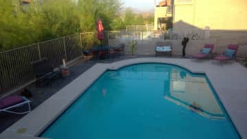 Our pool and yard.