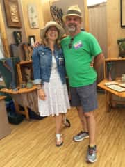 At our booth at the Ann Arbor Art Fair. Tom is an acclaimed ceramic artist.