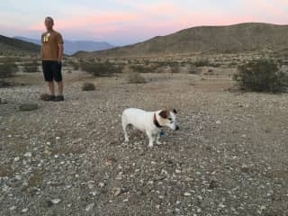 Jeff and Fred exploring the desert