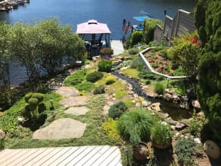 Backyard and boat