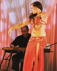 Dancing on live music in Miami, Florida.