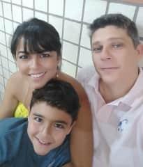 Flavia, Ricardo and Danilo