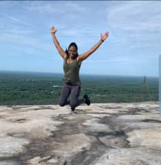 Hiking at Stone Mountain, looking forward to finding more mountains to conquer!