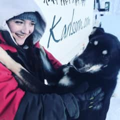 Here's me and my girl Jippis during Europe's biggest sled dog race