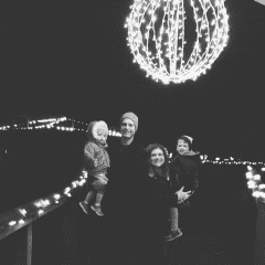 My family at our local little zoo that does a lights walk every winter.