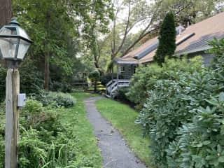 Walkway to front door of our house