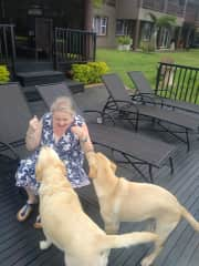 Me with some lovely doggie friends