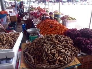 Street market in Laos