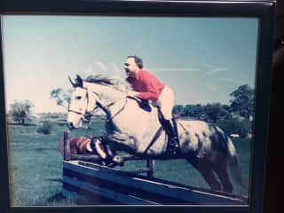John in his riding days!