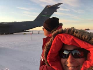 Antarctica in Feb, catching the last flight out