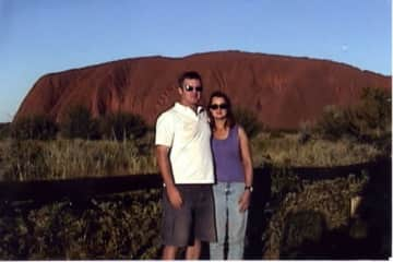 Ayers Rock, at our fittest after lots of hiking