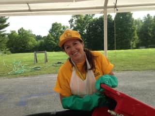 Washing cambros as a part of the NCBM Feeding Team - W. Virginia Flood