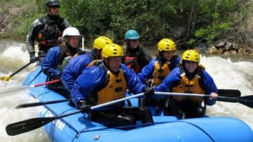 White water rafting with my family