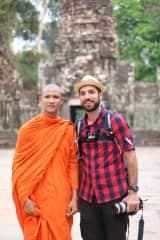 Silvia in Angkor wat